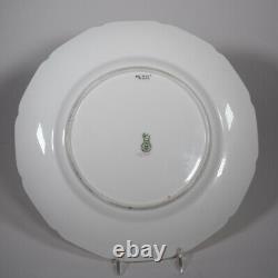 12 Royal Doulton Raised Paste Gold & Cobalt Dinner Plates, Circa 1925