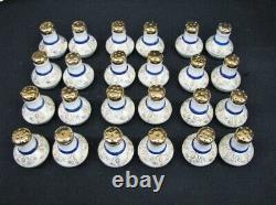 150Pc Victoria China Set Cobalt Blue, 24K Gold Service for 12 + 12pc Per Setting