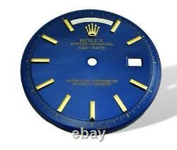 1962 Rolex Cobalt glossy Blue Piepan President Day Date Watch Dial 1801 1803