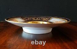 19th Century Royal Vienna Porcelain Gold Guilt Cobalt Blue Plate/saucercherub