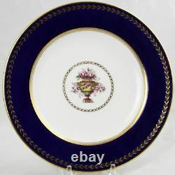 8 Spode Copelands China Cobalt Blue & Gold Dessert Plates Ovington NYC 8-7/8