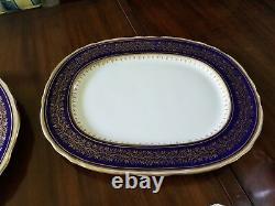AYNSLEY FINE BONE CHINA BALMORAL PATERN COBALT BLUE GOLD LACE TRIM Gorgeous#7098