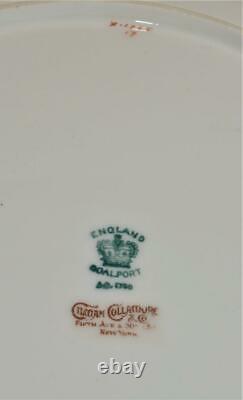 Ant COALPORT England Gold Decor Cobalt Blue Panel X1765 9 1/2d Cabinet Plate