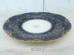 Antique Mayer Haviland Limoges Cobalt Blue Gold Filigree Plate