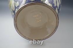 Antique Santarelli Italy Majolica Huge 15 Vase Cobalt Blue Gold