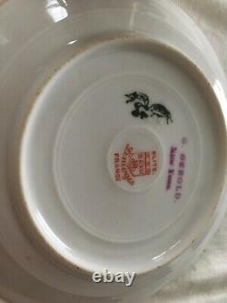 Antique Wonderful Elite Limoges Cobalt Blue And Gold Demitasse Cup & Saucer