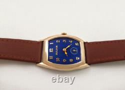 Awesome 1944 BULOVA AVIATOR Cobalt Blue Dial Men's Vintage Watch Serviced