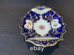 Aynsley Aristocrat Cobalt Blue Footed Compote Handled Bowl Gold Tazza 11 READ