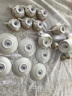 BRAND NEW Weimar German Gilded White Katharina 14051 Demitasse Set 17pcs
