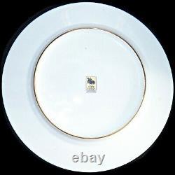 Black Knight Hutschenreuther Bavaria Cobalt Blue Gold Trim 10.25 Dinner Plate