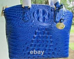 Brahmin Medium Duxbury Rich Deep Cobalt Blue Melbourne Leather Dome Handbag