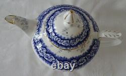 COALPORT Teapot Tea Pot DALEMERE Cobalt Blue Gold Rims