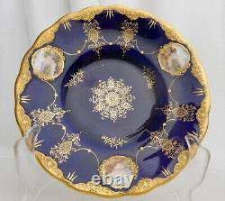 Coalport 1906 Cobalt Blue, Gold and Sterling Cup & Saucer 83477