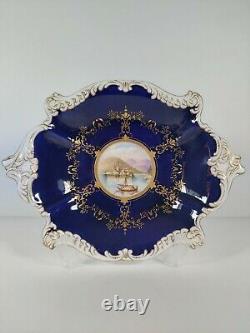 Coalport Cobalt Blue & Gilded Display Plate
