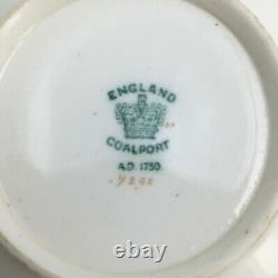 Coalport Porcelain Works Cup & Saucer Teacup Cobalt Blue Gold rim Antique