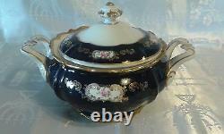 ECHT Cobalt 93 PC VTG German Reichenbach Fine China Porcelain ECHT Cobalt Gold
