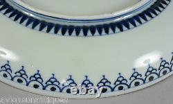 Fine Antique Japanese Copper Red Gold Cobalt Blue Porcelain Plate Marked