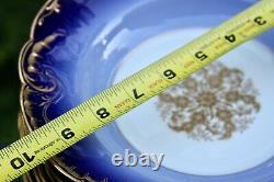 Haviland 9.75 Cobalt Gold Medalion Marseilles Rimmed Soup Pasta Plate