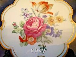 Jlmenau Graf Von Henneberg Echt Kobalt Genuine Cobalt Blue Gold Floral Bowl 11