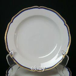 KPM Berlin Blue Cobalt & Gold Plates and Service Platter Early 19th Century