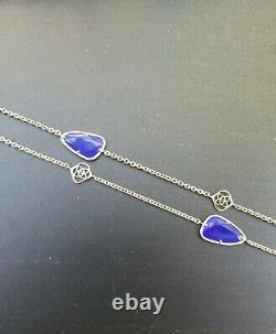 Kendra Scott Vintage Rare HTF Kinley Station Necklace in Cobalt Blue & Gold