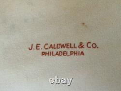 LENOX L325b FOR J. E. CALDWELL & CO 10 DINNER PLATES COBALT BLUE GOLD ENCRUSTED