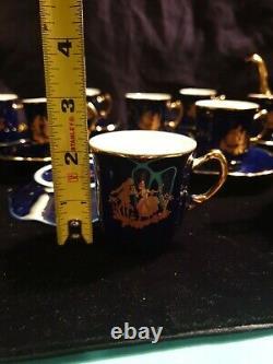 LIMOGES France Cobalt Blue Gold Veritable Porcelaine D'Art Tea Set