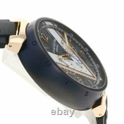 LOUIS VUITTON Tambour Damier Cobalt Watches QA090Z Stainless Steel/Rubber mens