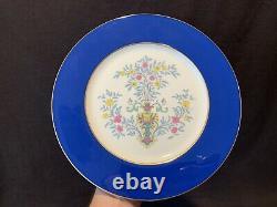 Lenox Blue Tree Dinner Plates 10 3/8 Dia Cobalt/Dark Blue Gold Rim Set of 6 Y98