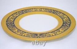 Lenox U. S. A. Gold Encrusted Cobalt Blue Decorated Dinner Plate