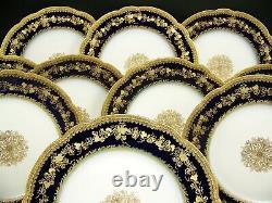 Limoges Grapevines Raised Gold Cobalt Blue Plates USA National Art Association