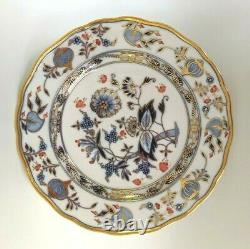 MEISSEN Dinner Plate Cobalt BLUE ONION with RED & GOLD Accents Germany