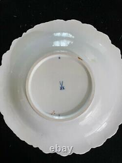 Meissen Cobalt Blue & Gold Floral Large Cabinet Plate Charger