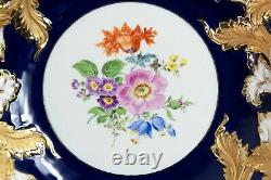 Meissen porcelain cobalt and gold deep cabinet plate/ bowl