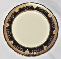 Minton China for Tiffany & Co. G9180 Cobalt Blue & Gold Encrusted Plate 8 7/8