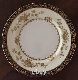 Minton Dynasty Cobalt Blue 10 5/8 Dinner Plate -(5 More Available)- H3775