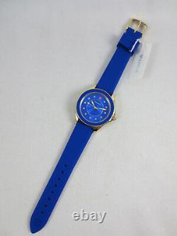 NEW Michele Cape Cobalt Blue Gold Topaz Ladies Watch MWW27A000026 NIB + Box