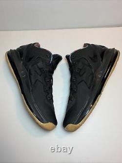Nike Max Lebron XI 11 Low Black Gum Crimson Cobalt Gold Size 11.5M 642849-078