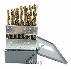 Norseman 29pc COBALT M42 Drill Bit Set 1/16-1/2 Jobber Lengths MADE IN USA D-29