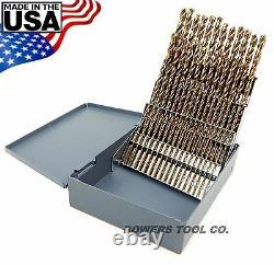 Norseman 60pc COBALT M42 NUMBER Wire Gauge Drill Bit Set w Index #1-60 USA D-60
