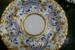 Old Paris Porcelain Hand Painted Gothic Cobalt Blue & Gold Tea Cup