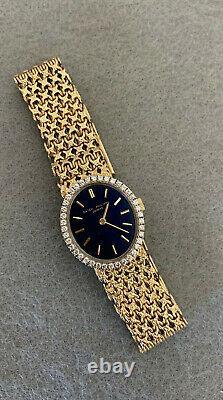 PATEK PHILIPPE ELLIPSE, 1976, 18k Yellow Gold ladies Watch 4178/2, cobalt dial