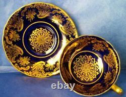 Paragon Exquisite Cobalt Blue Rich Gold Fine Bone China Cup & Saucer
