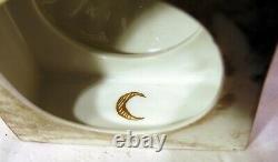 Pr Neoclassical German Porcelain Dresden Cobalt Blue Urns Gold Crescent