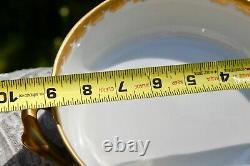 RARE HAVILAND LIMOGES H & C MARK Serving VEGETABLE BOWL FLORAL GOLD COBALT