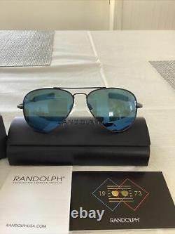 Randolph Concorde Cobalt Blue Polarized Lens Matte Black Frame CR259