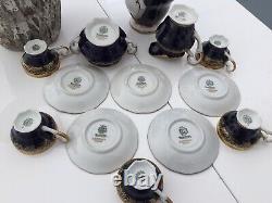 Rare Weimar German Gilded Cobalt Katharina 6208(14 Pc)Demitasse Set -See details