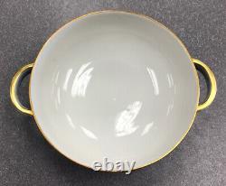 Rosenthal EMINENCE Gold Cobalt Blue, Large Round Covered Vegetable Serving Bowl