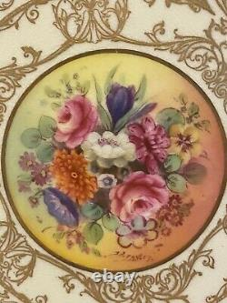 Royal Worcester Hand Painted Signed Cobalt Blue Gold Plate