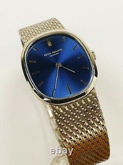 Seltene Patek Philippe Golden Ellipse blue Cobalt Sigma Dial Ref 3748 / 1